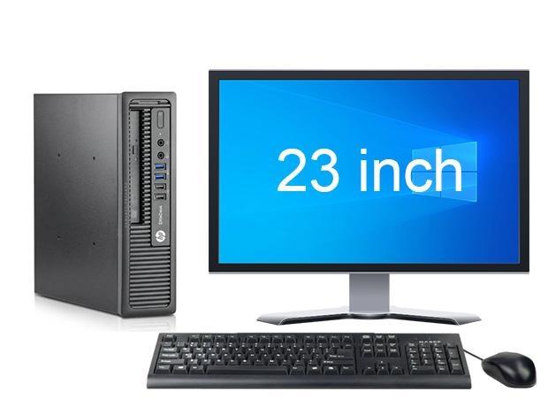 """HP EliteDesk 800 G1 USDT i5 4e Gen + 23"""" Full HD Monitor + 2 jaar garantie! 1"""
